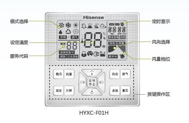 海信中央空调多样的控制器